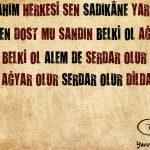 SANMA ŞÂHIM HERKESİ SEN SÂDIKÂNE YÂR OLUR