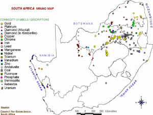 Map 1: South Africa Mining Map